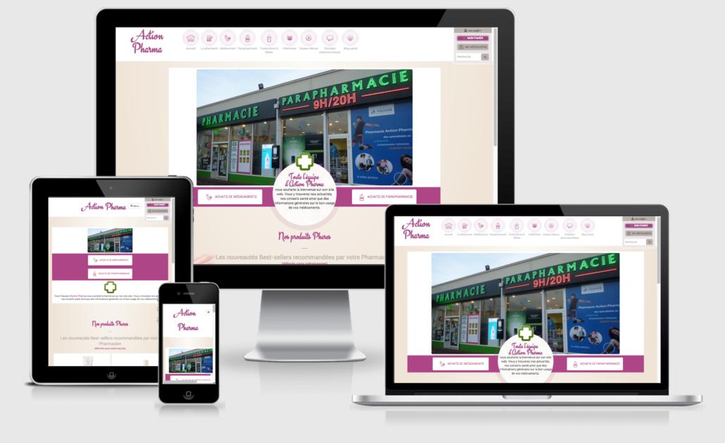 Site de pharmacie en responsive design Valwin