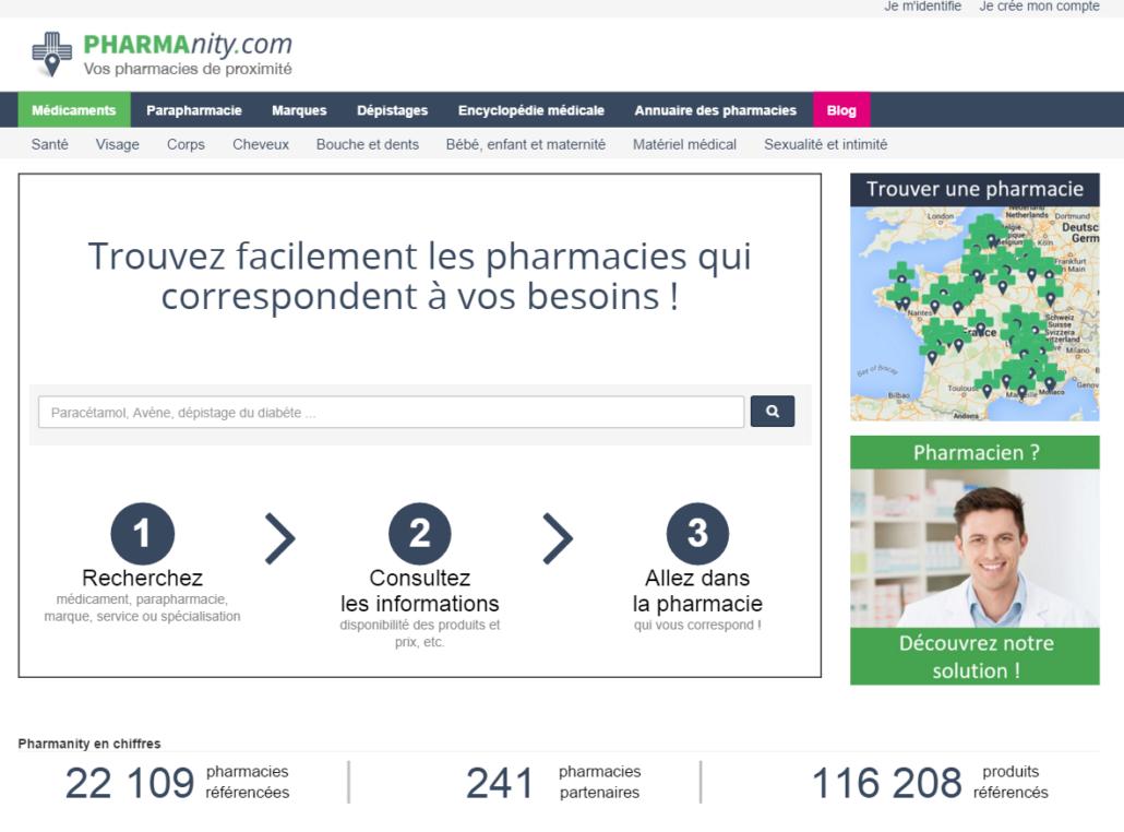 Capture d'écran Pharmanity