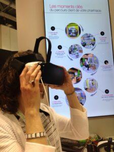 Les Oculus sur le stand de Média6 à Pharmagora Plus