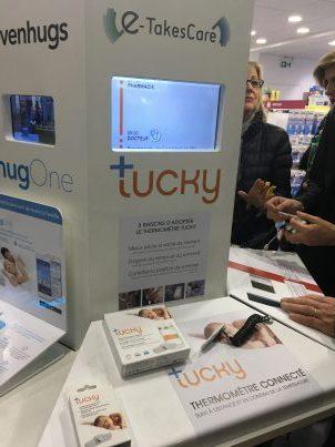 Borne objet connecté Pharmacie avec Tucky HugOne