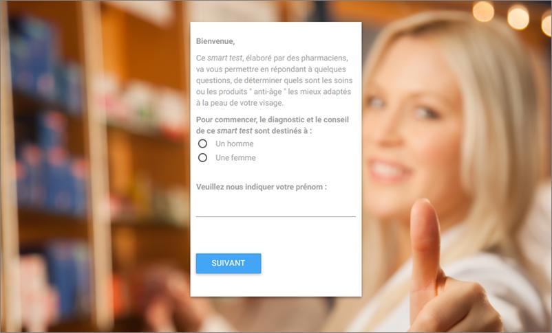 Copie écran questionnaire Pharmaseek