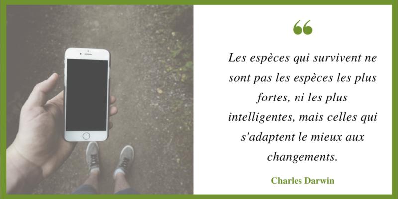 citation Darwin ©LaPharmacieDigitale