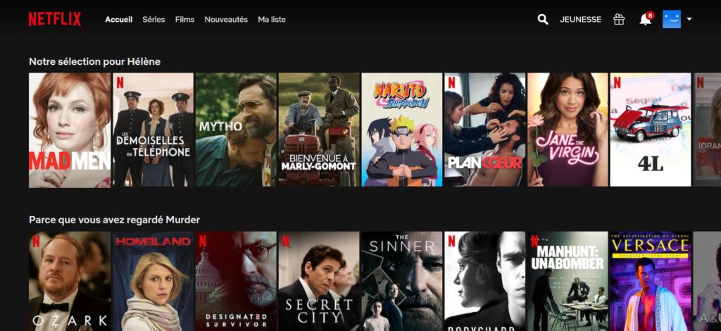 Netflix et Amazon sont les champions de l'hyper-personnalisation de l'expérience client.